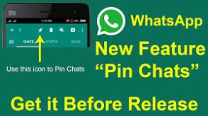 """Whatsapp Introduced """"Pin Chat"""" – See Features"""