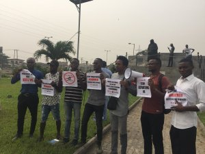 """PHOTO NEWS; """"Having Iphone, Laptop Doesn't Make One Criminal"""": #EndSARS Protest In Lagos (Pics)"""