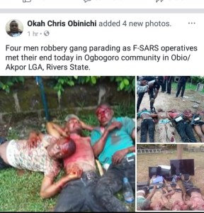 4  SARS Officials Gunned Down Today In Rivers (Graphic Photos)