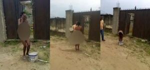 Lagos Babe Strips Unclad After She Came To Kill Man Who Dumped Her With Charm (Pics)