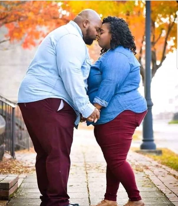 Ow! See The Pre-Wedding Photo Of Two Big-Sized Lovers