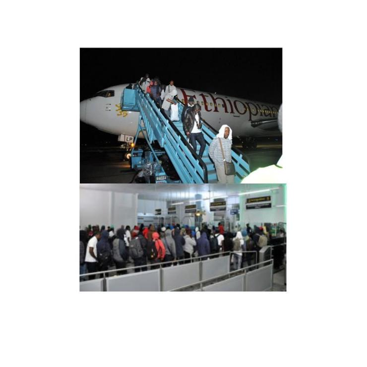 155 Nigerians Who Were In Russia Are Back In Abuja (Photos)