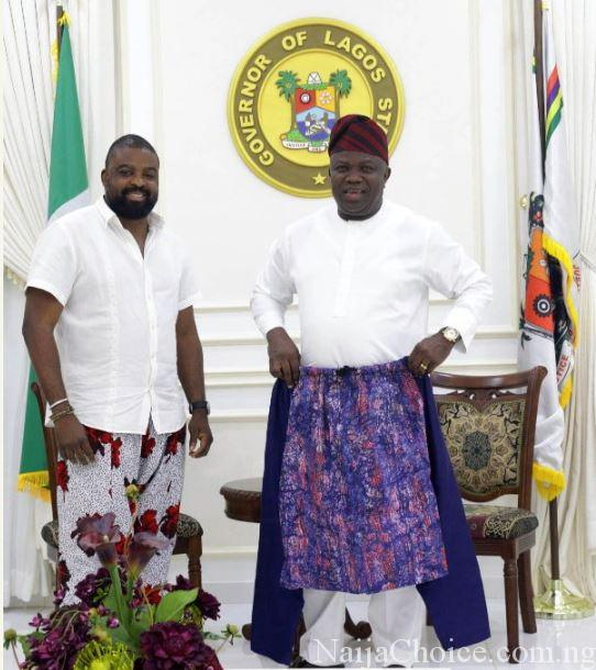 Governor Ambode Endorses Kunle Afoyalan's Baggy Pants For Men (Photos)