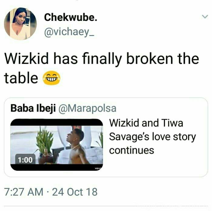 """ScreenGrabs Of What Twitter Users Are Saying About Wizkid & Tiwa Savage's """"Fever"""" Video"""
