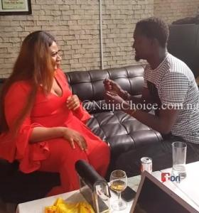 The Emotional Moment Actress Nkechi Blessing Got Engaged By Her Boyfriend On Movie Set (Photos+Video)