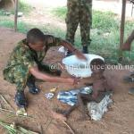 Nigerian Soldiers Rescue Abandoned Child Who Was Locked Up With Charm In Ebonyi