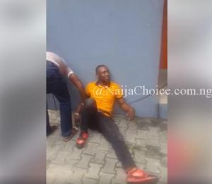 UNIPORT Criminology Graduate Caught Stealing In GTBank In Port-Harcourt. Photos -