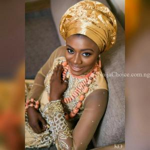 First Look at celebrity stylist Yolanda Okereke & actor Karibi Fubara's Traditional Wedding