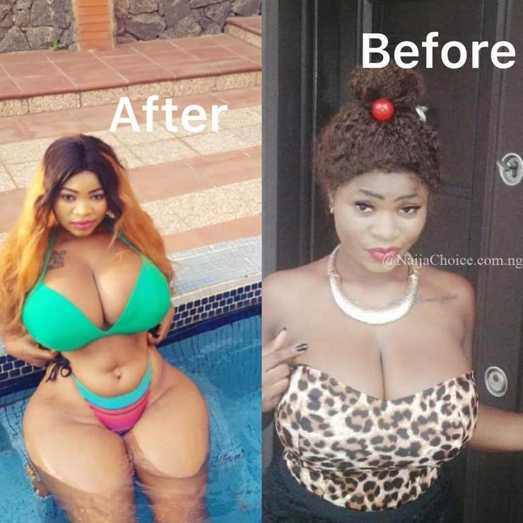 #10YearsChallenge Roman Goddess and her ample bosoms join in trending challenge (Photos)
