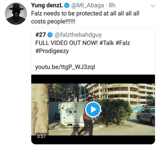 Falz Needs To Be Protected At All Cost! – Rapper MI Declares