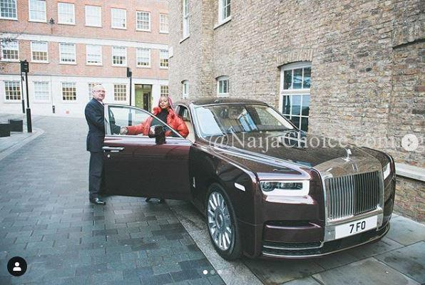 Femi Otedola Reacts As Her Daughter, DJ Cuppy Shows Off Her New Rolls Royce Phantom