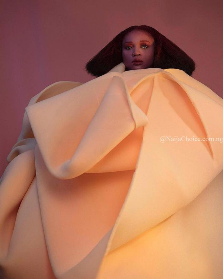 Waje Looking Like An Art For The Photoshoot Of Her New Album