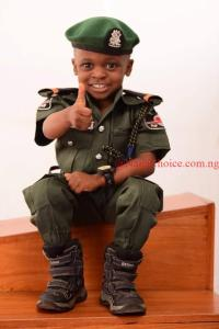 Wow! Little Boy Stuns With His Mobile Police-themed Birthday Photos