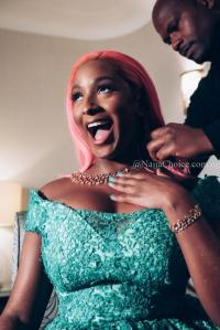 Cuppy looked Stunning in Green at the Save the Children Gala in London!
