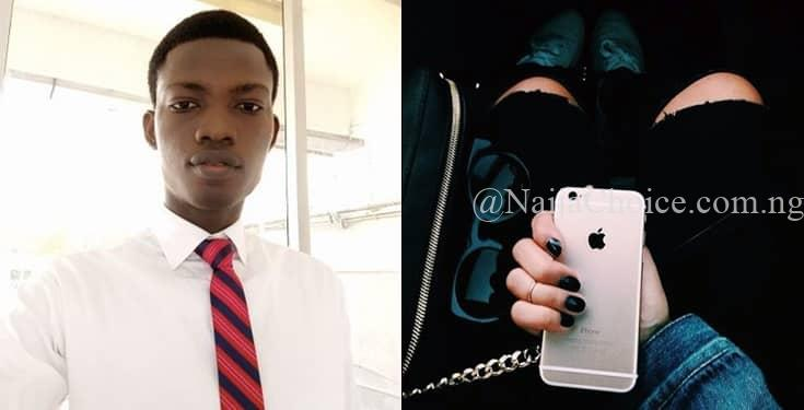Photo Of Nigerian Man Who Used His House Rent To Buy iPhone For His Girlfriend