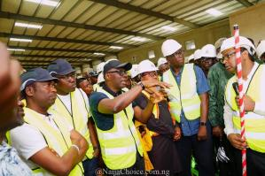 Governor Sanwo Olu Inspects The Largest Rice Mill In Nigeria