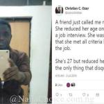 Man Reveals How His Friend Lost A Job After Falsifying Her Age