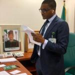 Quilox boss, Shina Peller pictured in his office