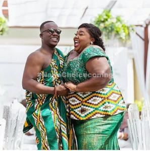 Beautiful Wedding Photos Of Ghanaian Groom And His Plus-Size Bride (Video)
