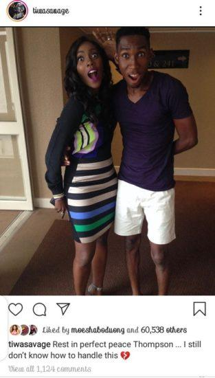 """""""I can't handle this"""" – Tiwa Savage mourns as P.A dies unexpectedly"""