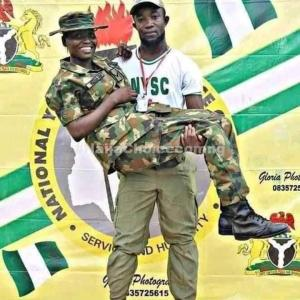 Corper Proposes To Female Soldier At Ebonyi NYSC Camp (Photos)