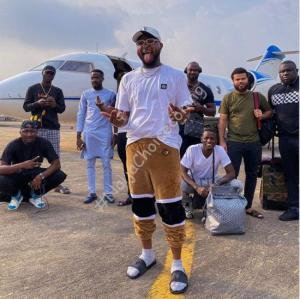 Davido repaints his 'Private Jet', reveals he is set to take Asaba by storm this weekend