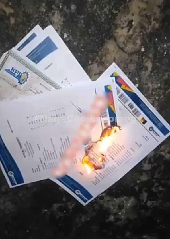 Frustrated Man Burns School Certificates To Ashes, Says School Is A Major Scam (Video)