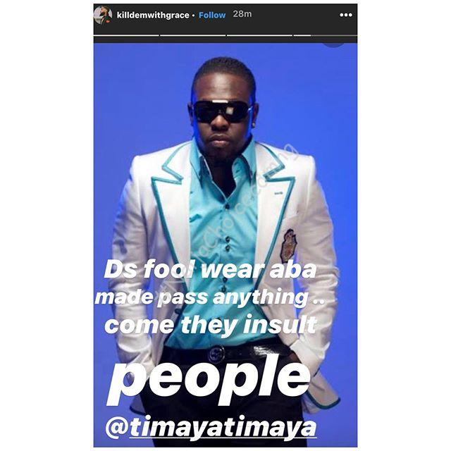 """""""This Fool Wears """"Aba-Made"""" More Than Anyone"""" – IK Ogbonna, others blast Timaya"""
