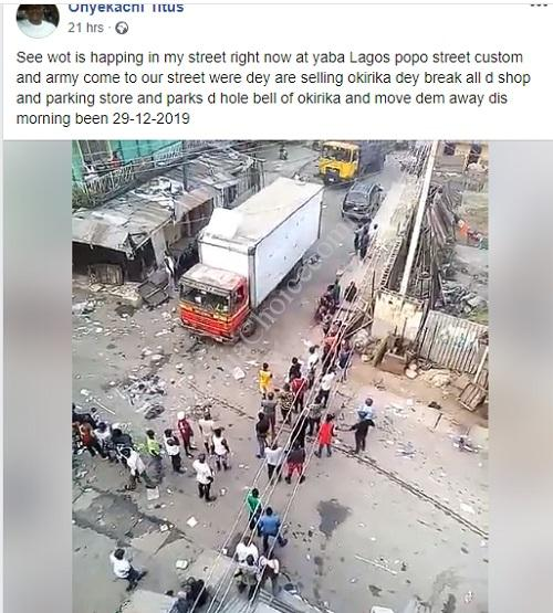 Customs And Army Officers Allegedly Break Into Shops In Yaba Market To Confiscate 'Okirika' (Video)