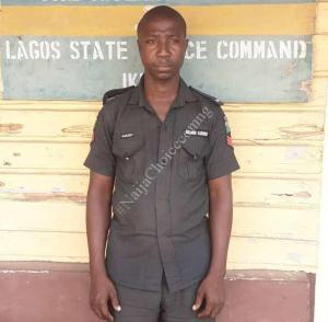 Police Officer Who Shot Man Dead In Lagos Has Been Arrested (Photo)