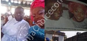 Funke Akindele And Her Siblings Absent At Their Father's Funeral In Lagos (Photos)