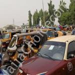 Ibadan Tricycle Operators Protest Against Passenger Policy (Photos)