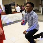 Nigerian Artiste Proposes To His Russian Girlfriend On Valentine's Day (Photos)