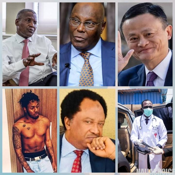 People Who Have Contributed Monetarily To Fight Against Coronavirus In Nigeria