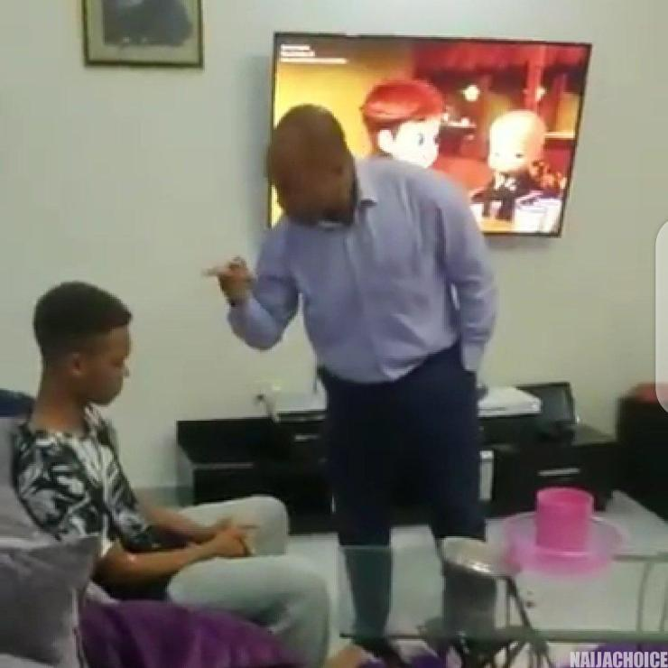 Angry Zambian  Father Gives A Thunderous Slap To His Son Over Poor Result After Paying k As Tuition [VIDEO]