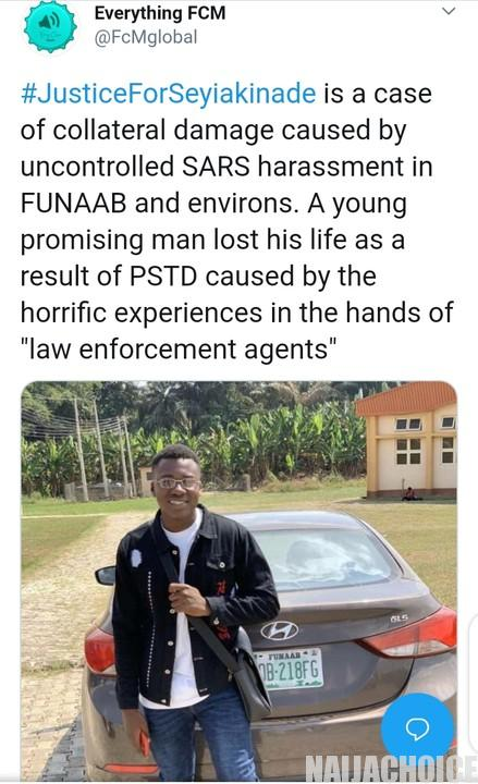 Nigerians React As Young Man Commits Suicide  Over SARS Ill-Treatment (Pics)