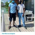 Billionaire Femi Otedola drives for 2 hours to visit daughter Temi and beau Mr Eazi (photos)