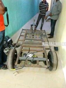 Nigerian Man Who Built Solar-Powered Tricycle  In 21 Days (Photos)