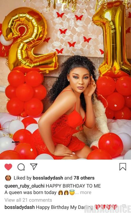 Ex Beauty Queen, Ruby Uche Acquires A New Car  On Her 21st Birthday