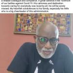 Governor Akeredolu Reacts To The Death Of Ondo Commissioner For Health (Video)