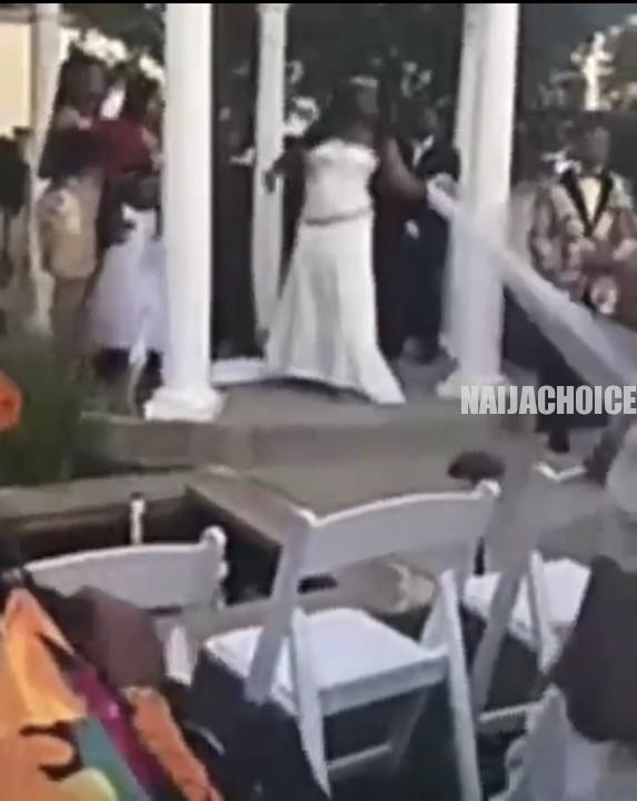 Pregnant Woman Crashes Wedding In Detroit, Claims Groom Is Her Baby's Father (Video)