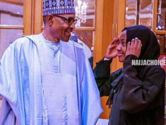 President Buhari Watches As Sallah Ram Is Being Slaughtered (Photo)