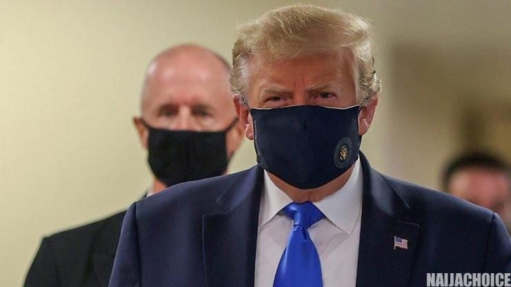 President Trump Finally Wears A Face Mask In Public For The First Time (Photos)