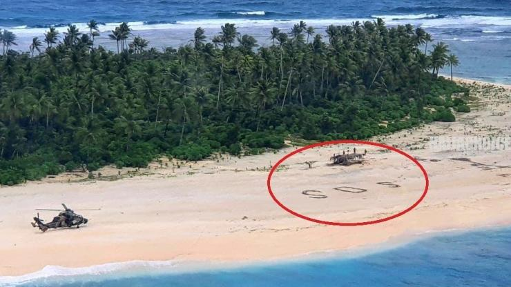 3 Missing Men Rescued From Pacific Island After Writing Giant SOS In Sand