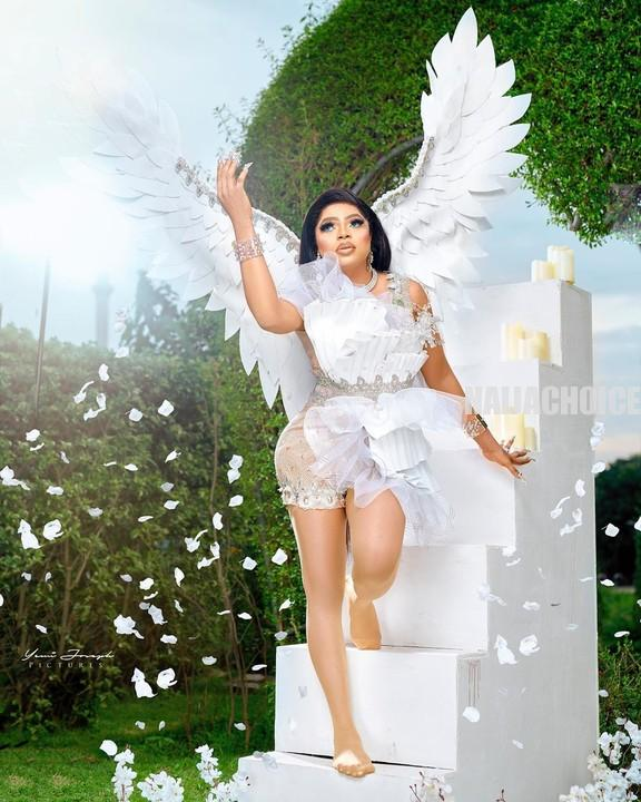 Bobrisky Celebrates 28th Birthday With Angel Themed Pictures