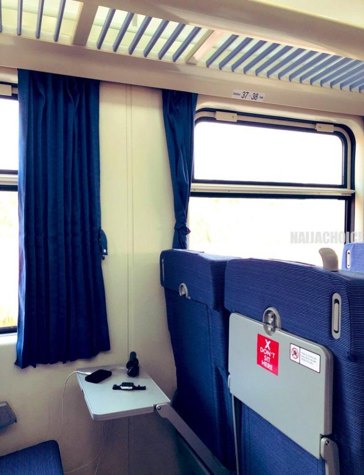 Checkout The Interior Of Lagos Ibadan Trains Acquired By Buhari Government