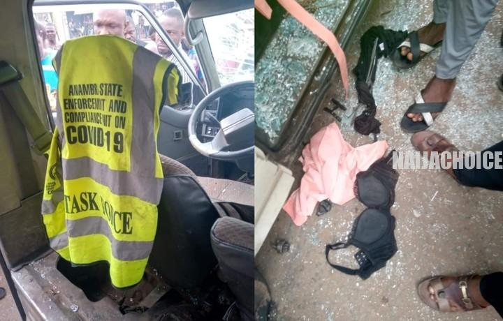 COVID-19 Taskforce Members Caught Raping A Girl Inside A Bus In Anambra (Photos)