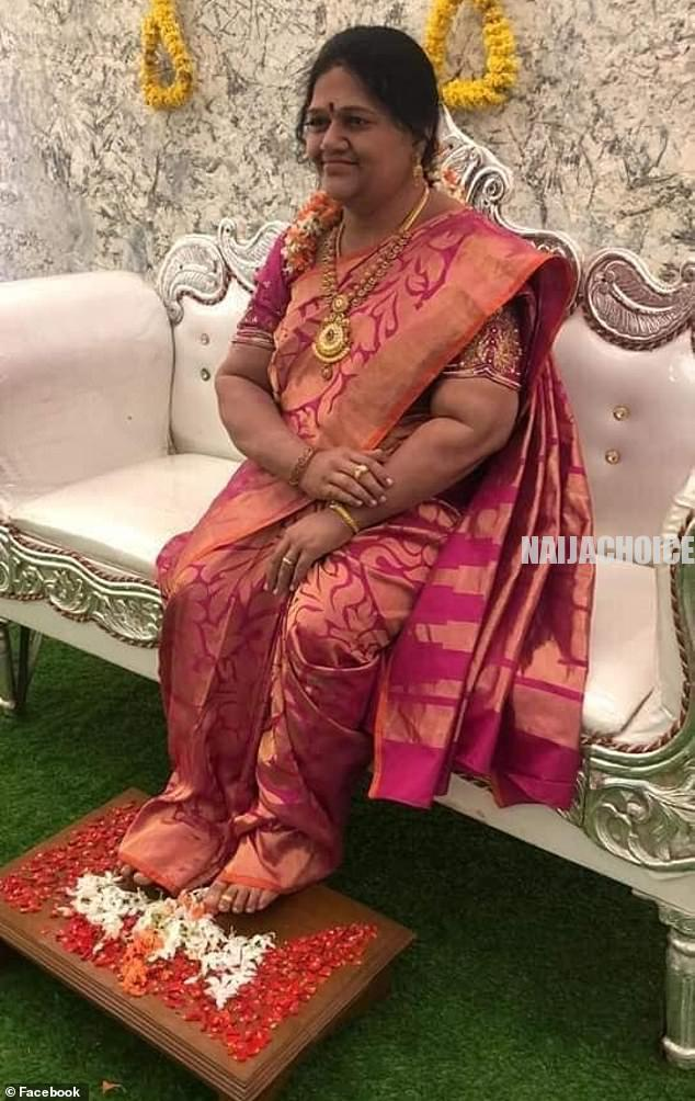 India Man Installs Lifelike Wax Statue Of Late Wife During House Warming (Pics)