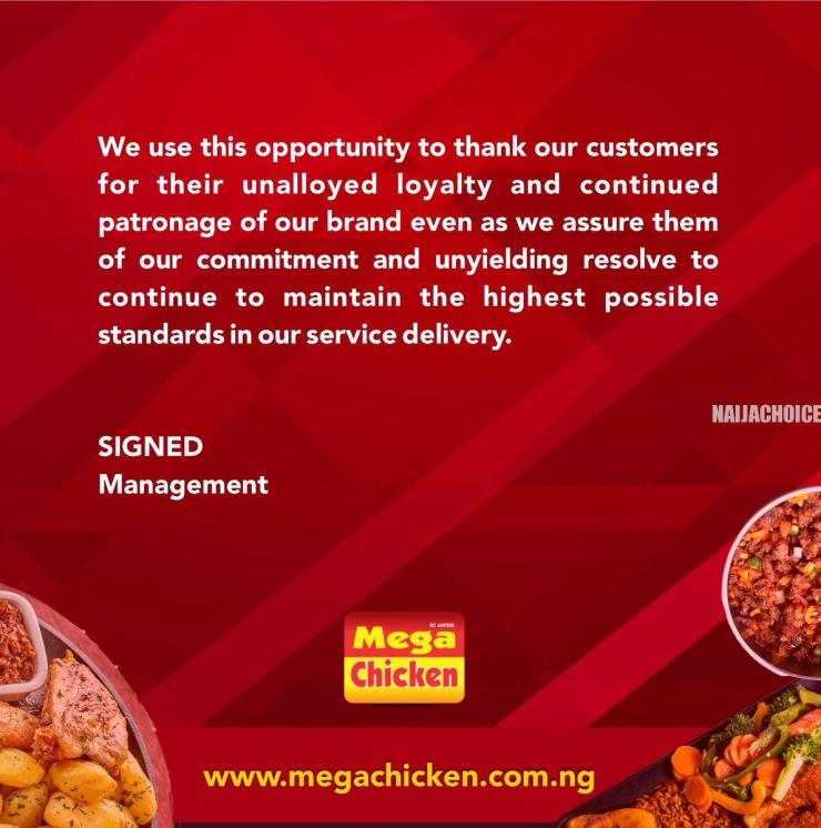 Kemi Olunloyo Calls Out Mega Chicken Restaurant After They Refuted Claims She Made