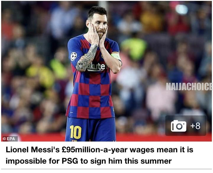 Lionel Messi's £95 Million Salary Is More Than Neymar & Kylian Mbappe's Combined
